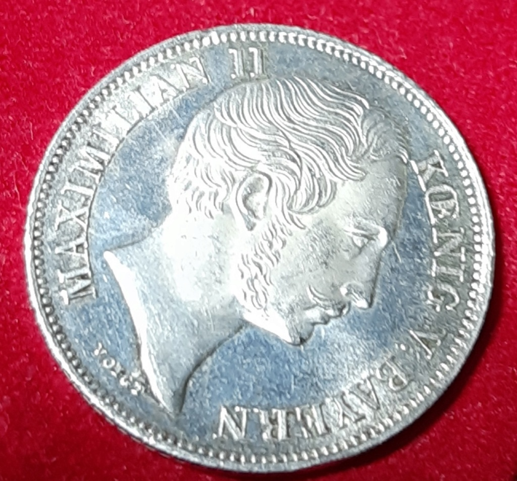 ½ Gulden - Maximilian II Reino of Bavaria - 1851-Preciosa patina. 20190952