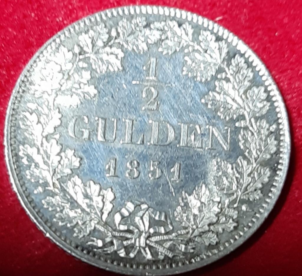½ Gulden - Maximilian II Reino of Bavaria - 1851-Preciosa patina. 20190953