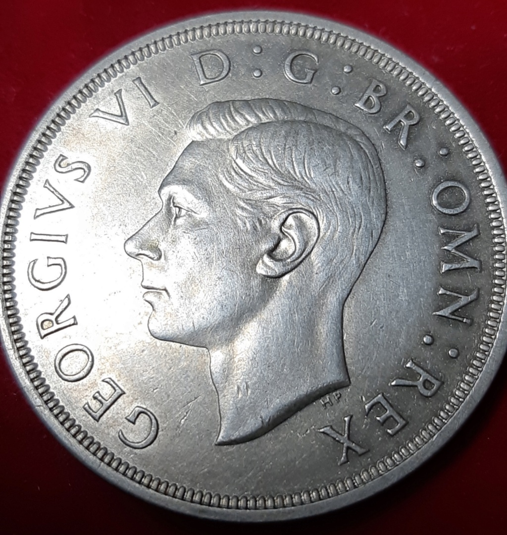1 CROWN 1937 - GEORGE VI - PLATA .500- MONEDÓN. 20190963