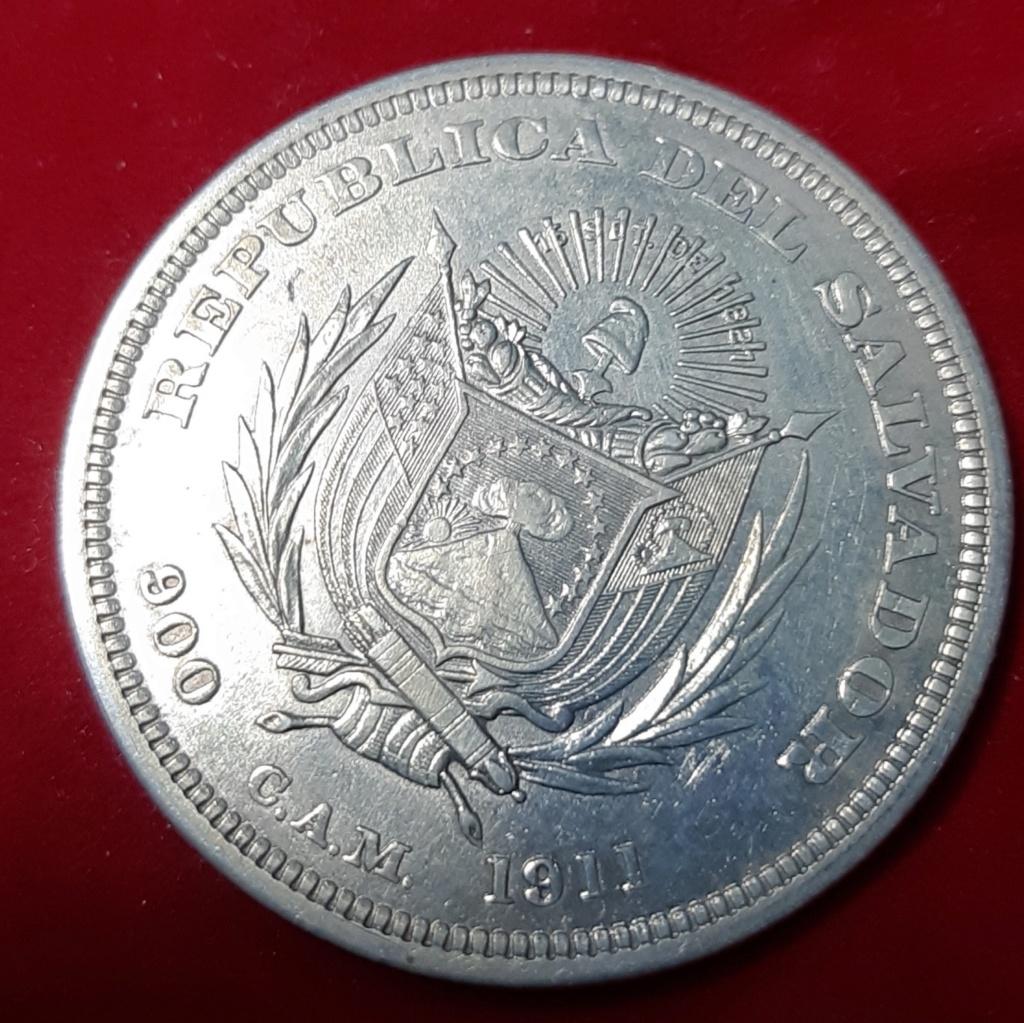 UN PESO 1911- REPÚBLICA DE SALVADOR- 20190965