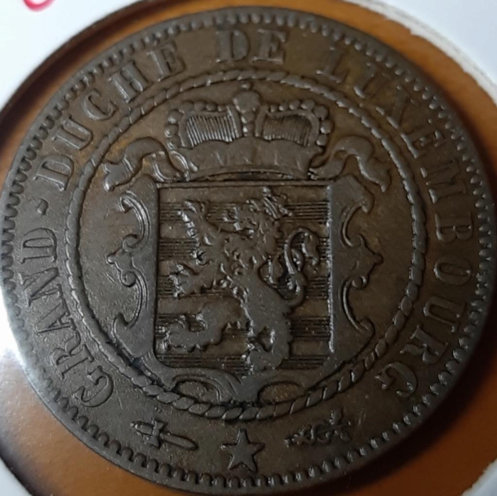 10 Centimes - Willem III-Luxemburgo-1854-Bronze. 20191011