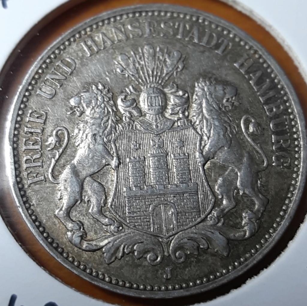 Preciosa moneda - 3 MARK HAMBURGO 1910 J - ESTADOS ALEMANES 20191015