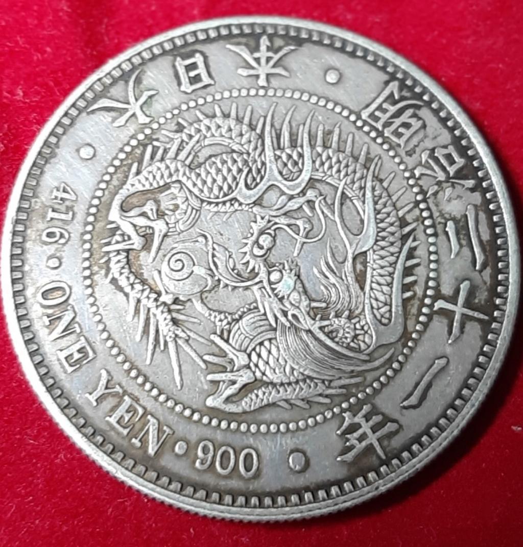 Imperio de Japón. Yen de 1888. 20191018