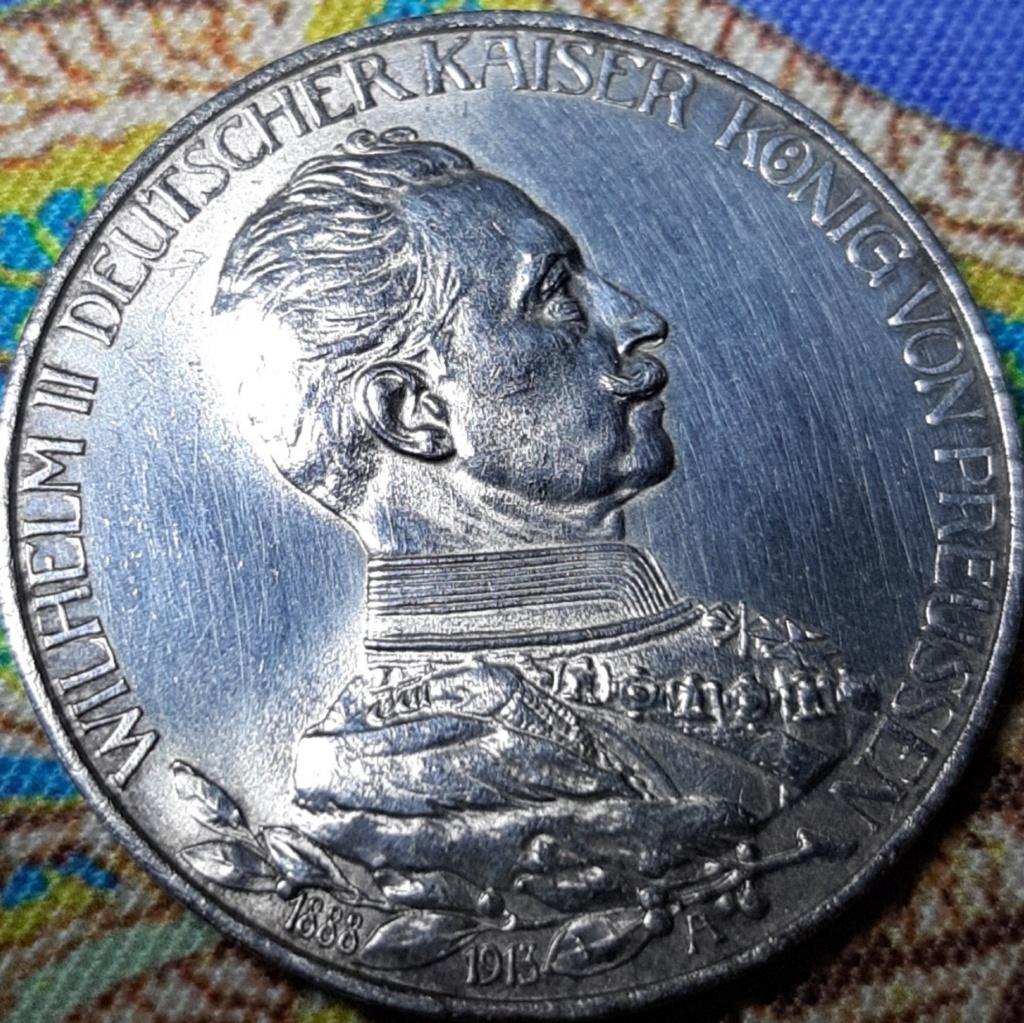 3 MARKS - PRUSSIA - WILHEM II (REINADO) 25  ANIVERSARIO 20191028