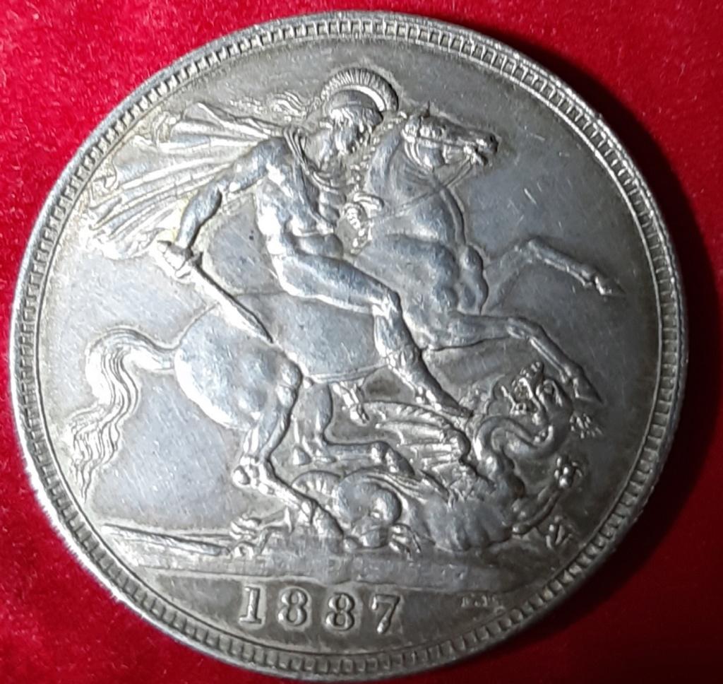 1 CROWN 1887-VICTORIA -SEGUNDO RETRATO-PLATA 925 20191031