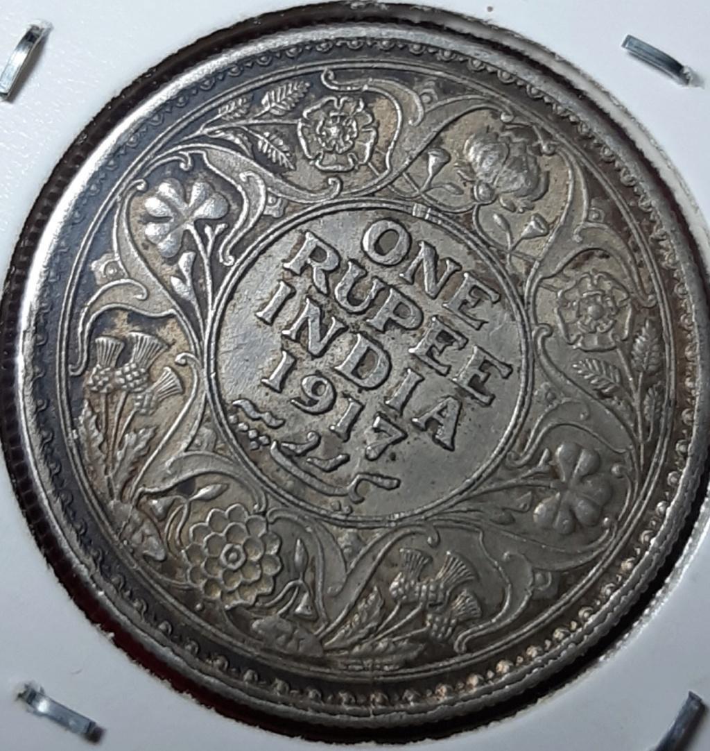 India Británica. 1 Rupia 1917 Bombay 20191032