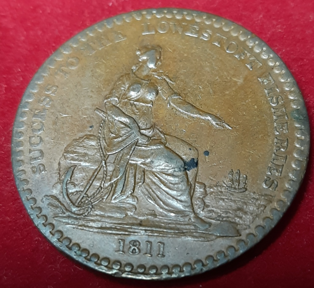OS DEJO OTRO PENNY -TOKEN DE 1811 LOWESTOFT FISHERIES JOHN CHASTON 20191037