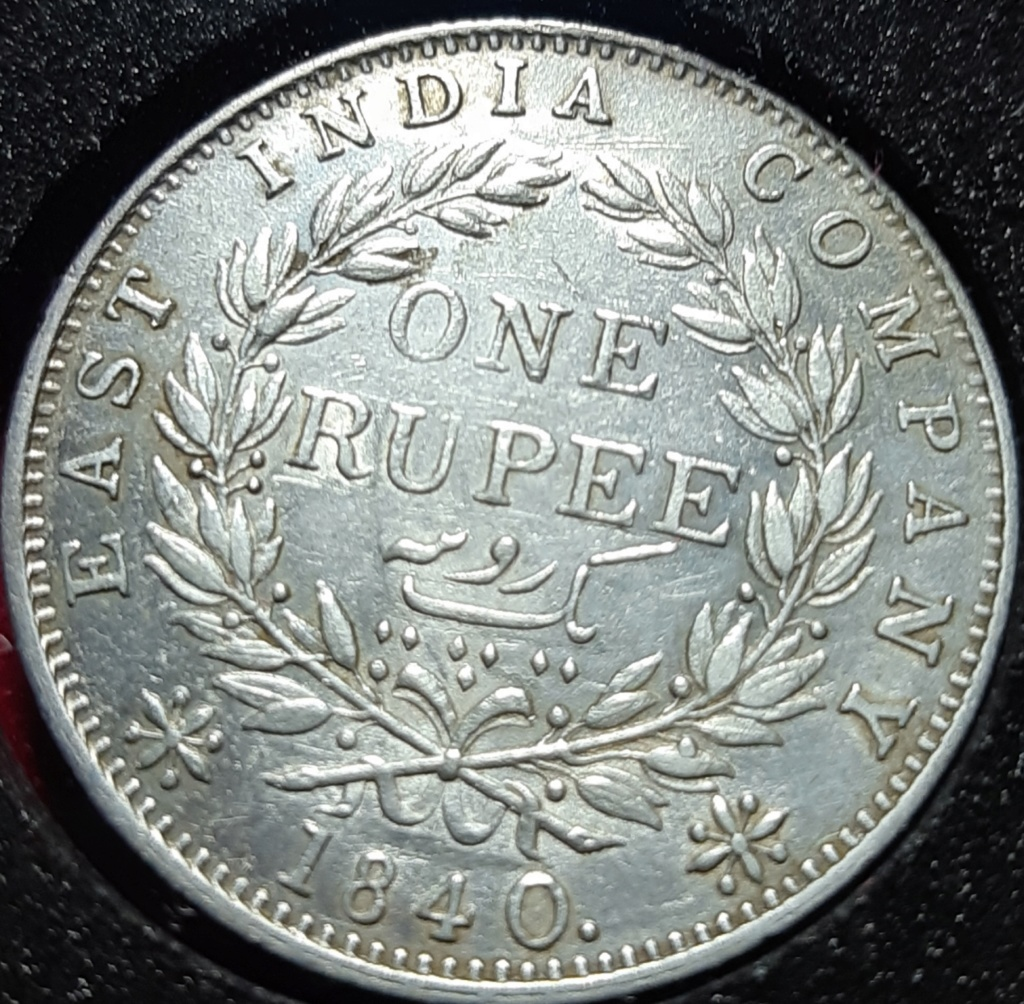 1 RUPEE 1840 - VICTORIA - EAST INDIA COMPANY -  20191043