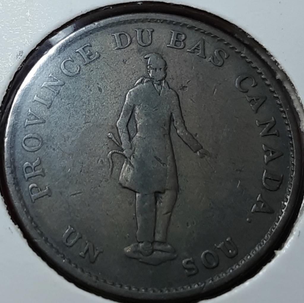 1837  HALF PENNY TOKEN - 1 SOU (QUEBEC BANK) -CANADÁ 20191046