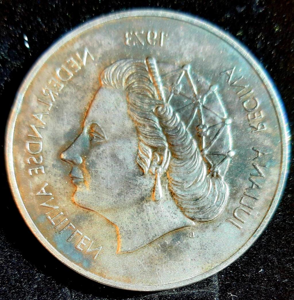 "25 gulden curaçao ""25 años de reinado reina Juliana""1973 20201110"