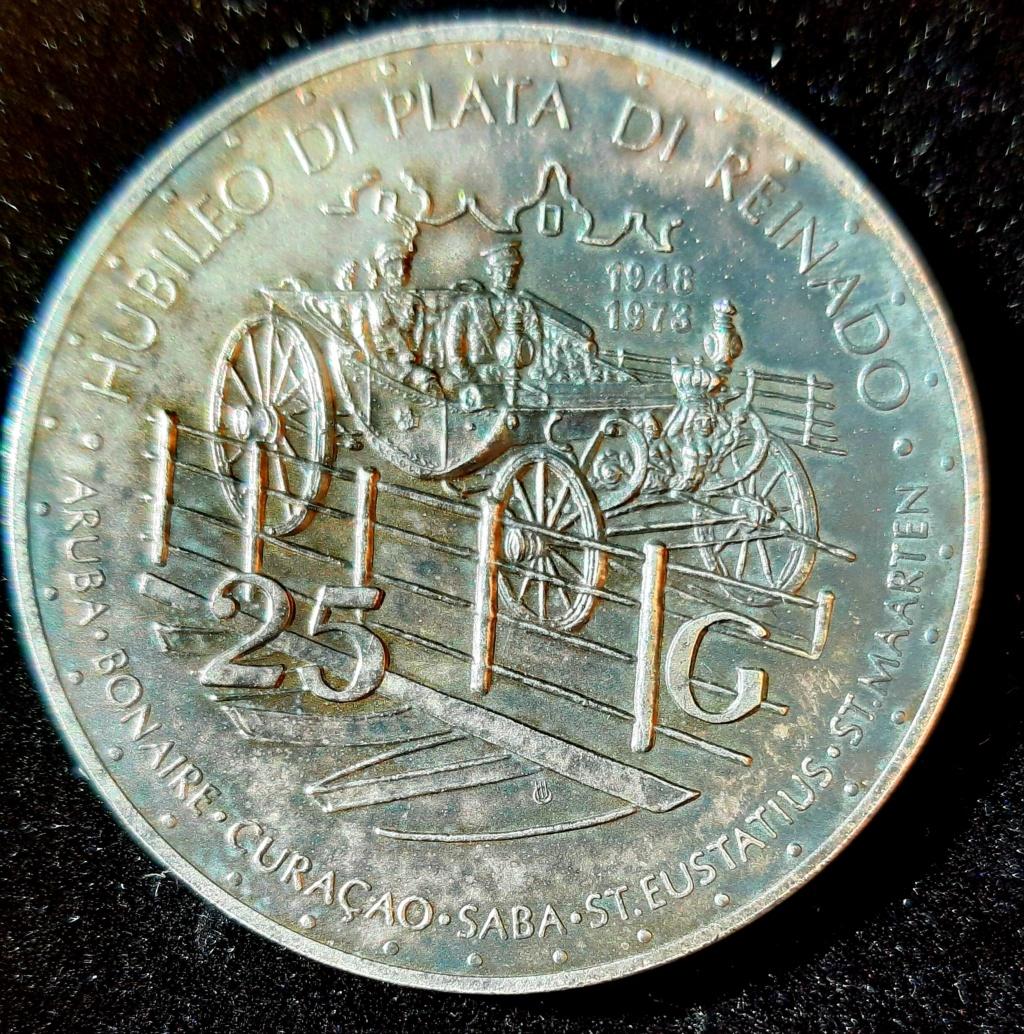"25 gulden curaçao ""25 años de reinado reina Juliana""1973 20201111"