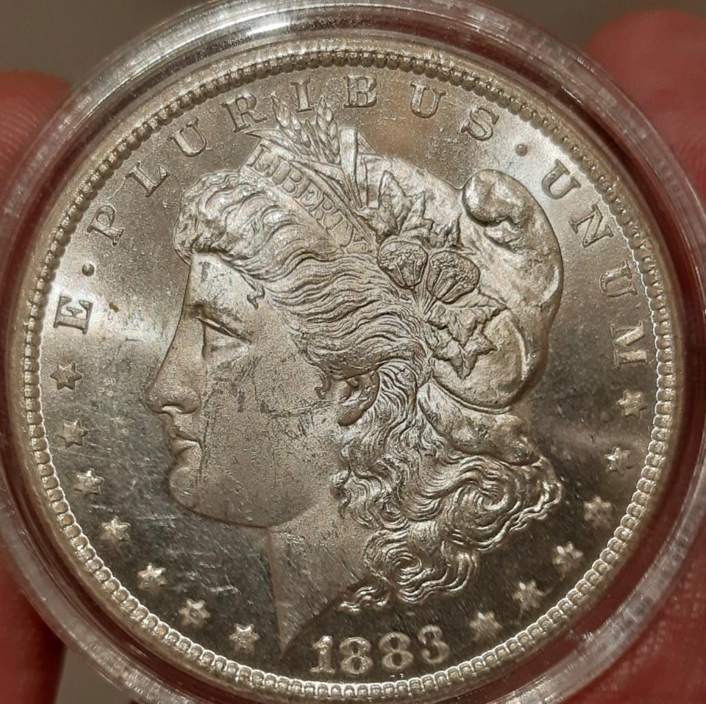 1 Morgan Dollar de 1883 Carson Coty...El dinero del Oeste. EE.UU. 20210210