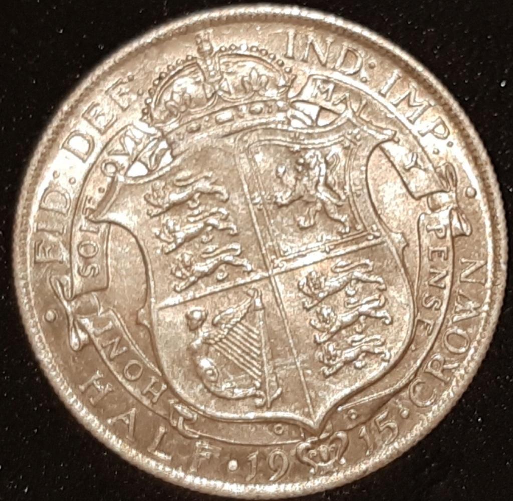 Media corona y 1 florín ingles...Jorge V. Años 1915 y 1918 respectivamente. 20210314