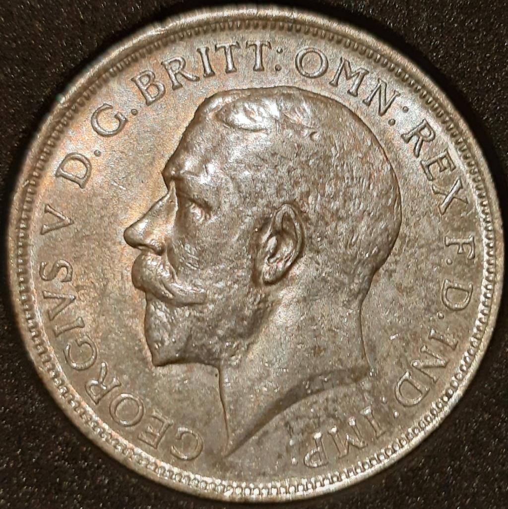 Media corona y 1 florín ingles...Jorge V. Años 1915 y 1918 respectivamente. 20210316