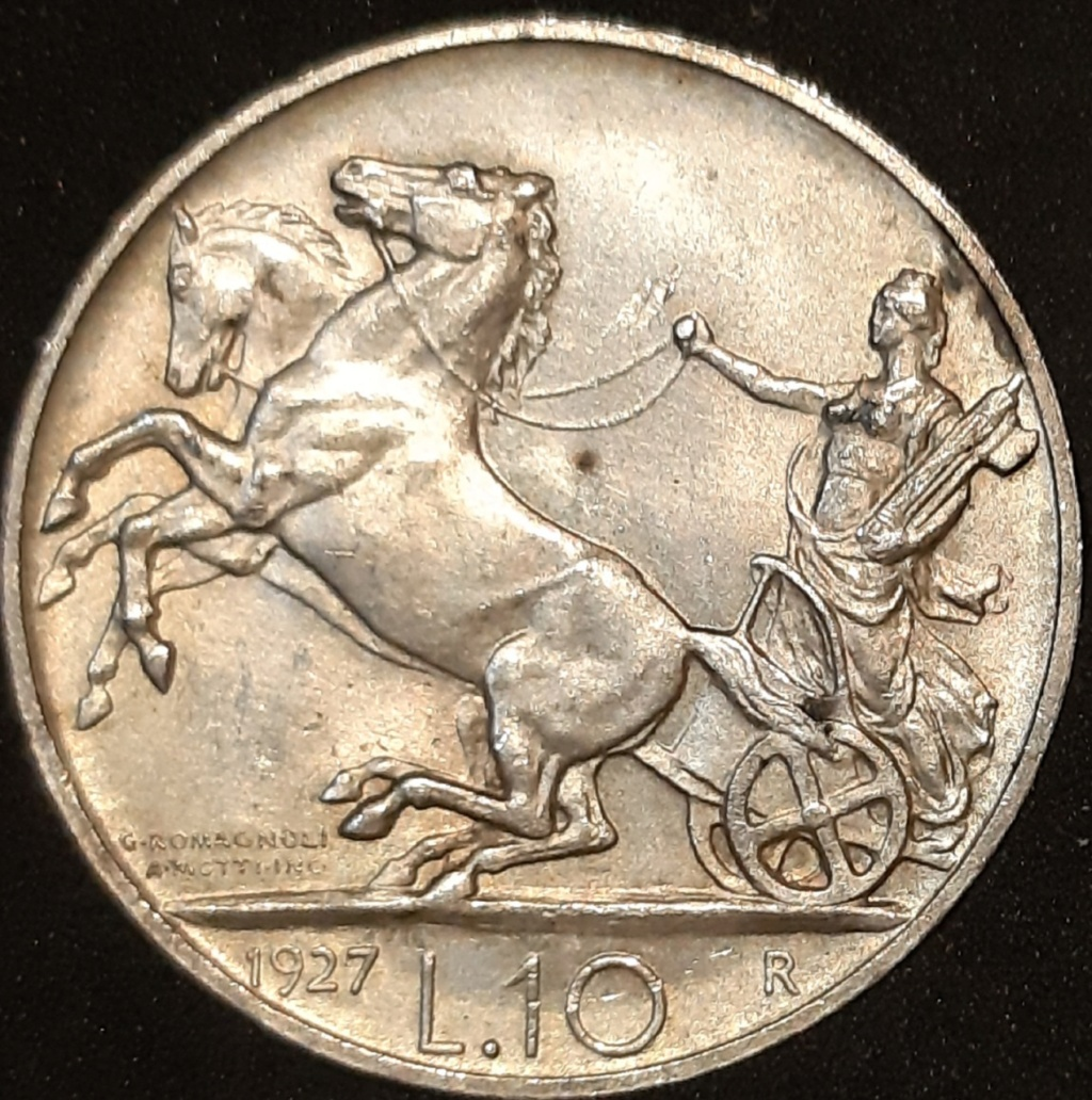 10 liras 1927 . Italia. Victor Manuel III de Saboya. 20210322