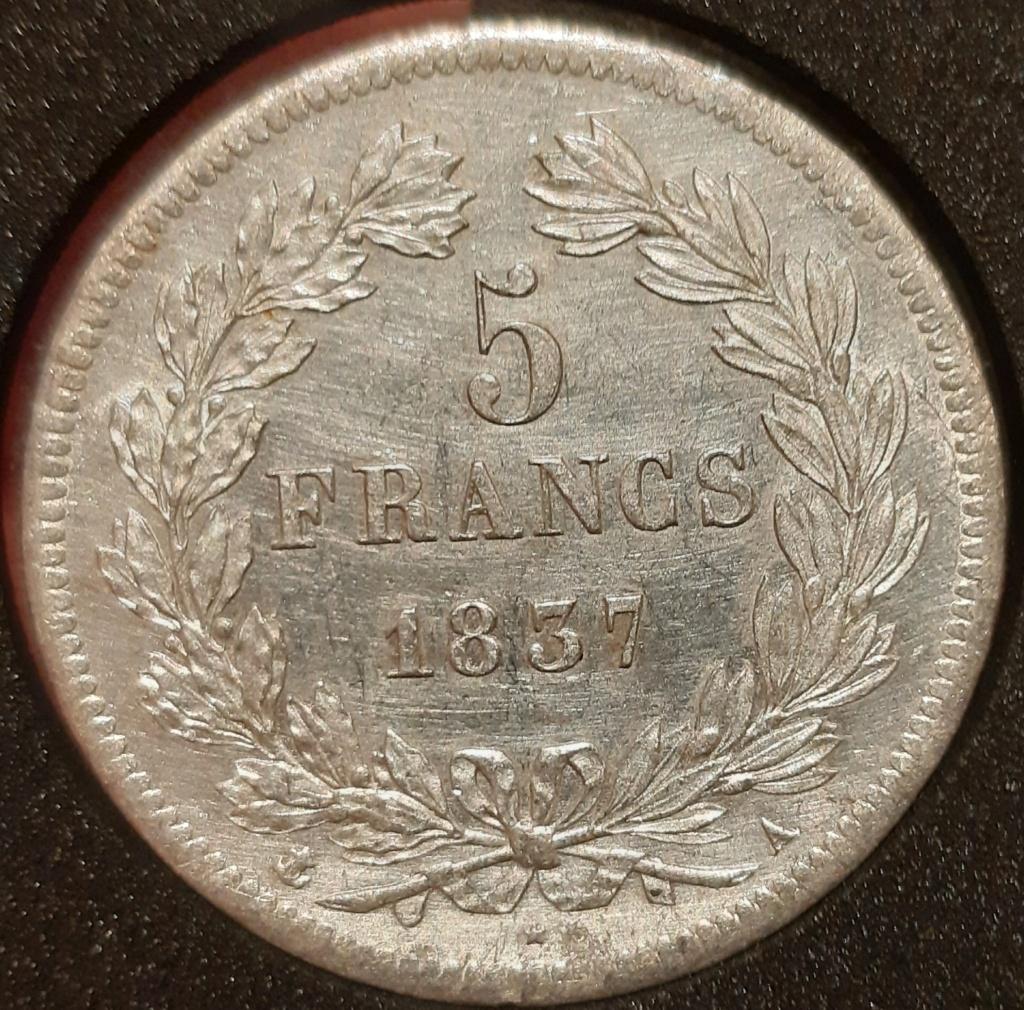 5 francos 1837A Louis Philippe I  20210332