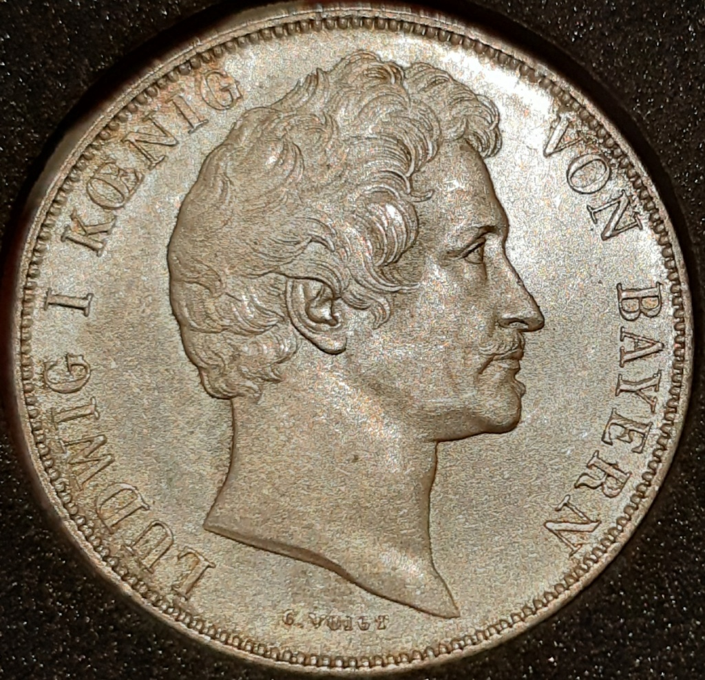 1 GULDEN 1844 Reino de Bavaria. Ludwig I. 20210335