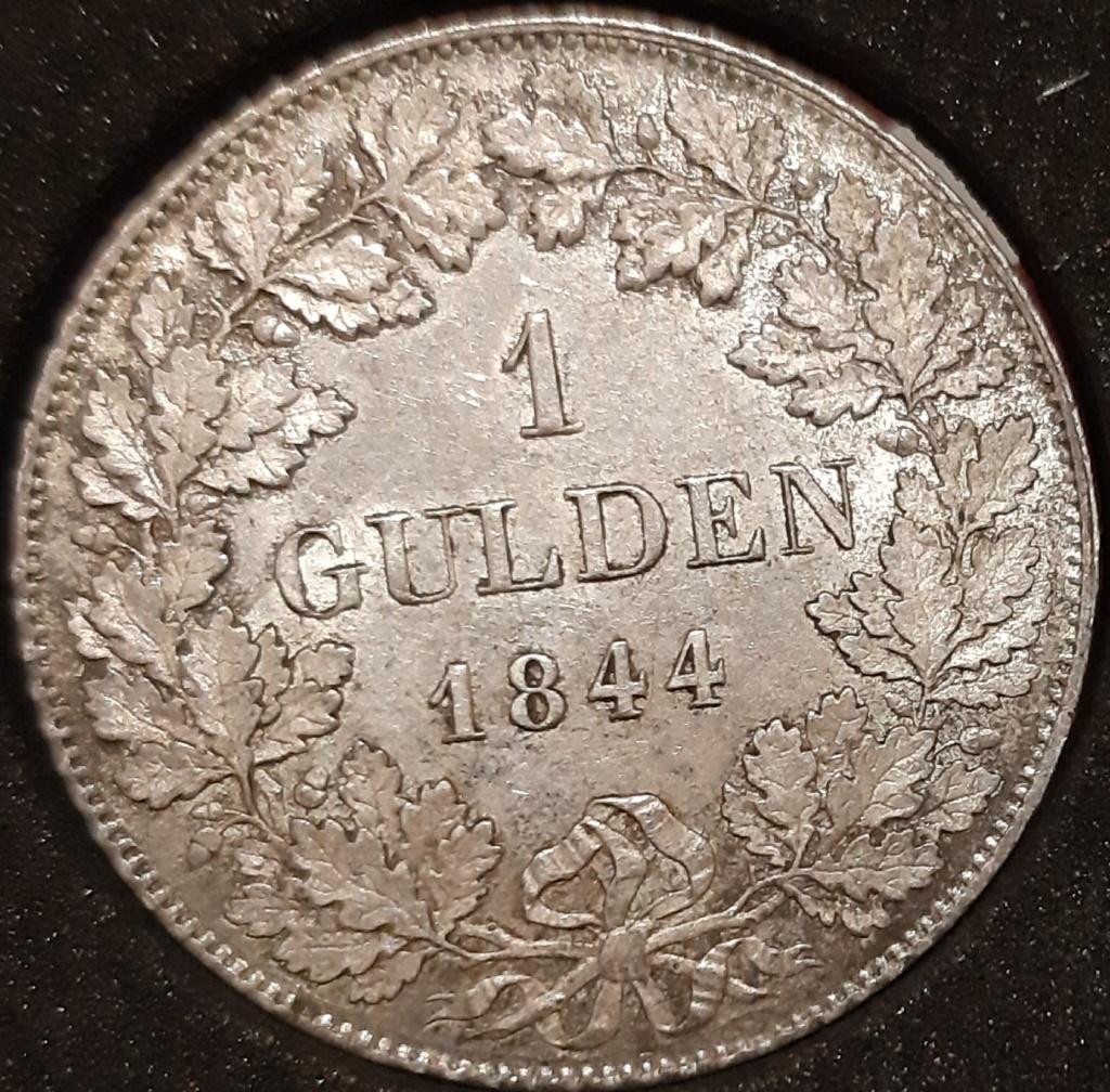 1 GULDEN 1844 Reino de Bavaria. Ludwig I. 20210336