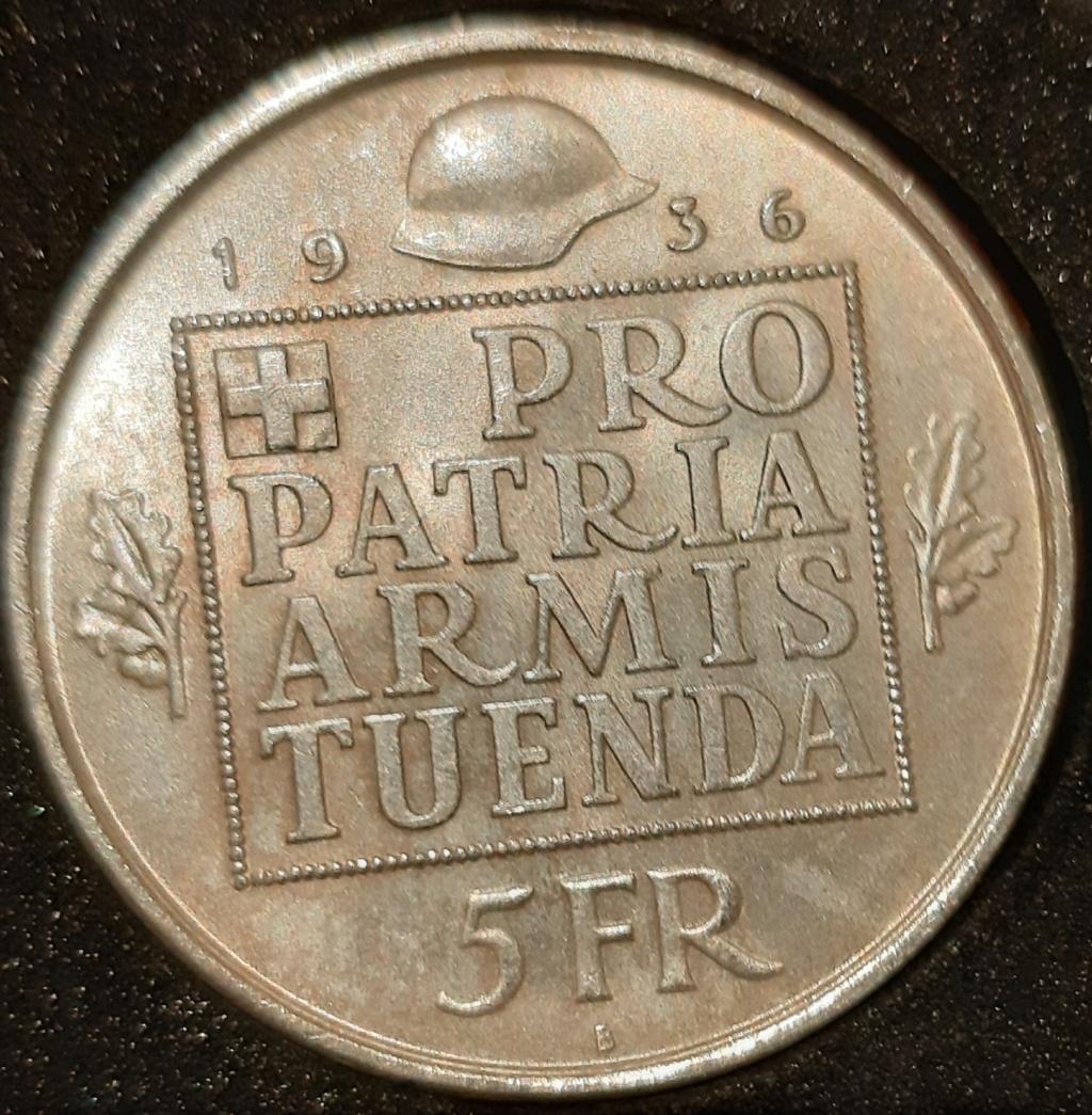5 Francis Suizos 1936..HELVETIA.  20210340