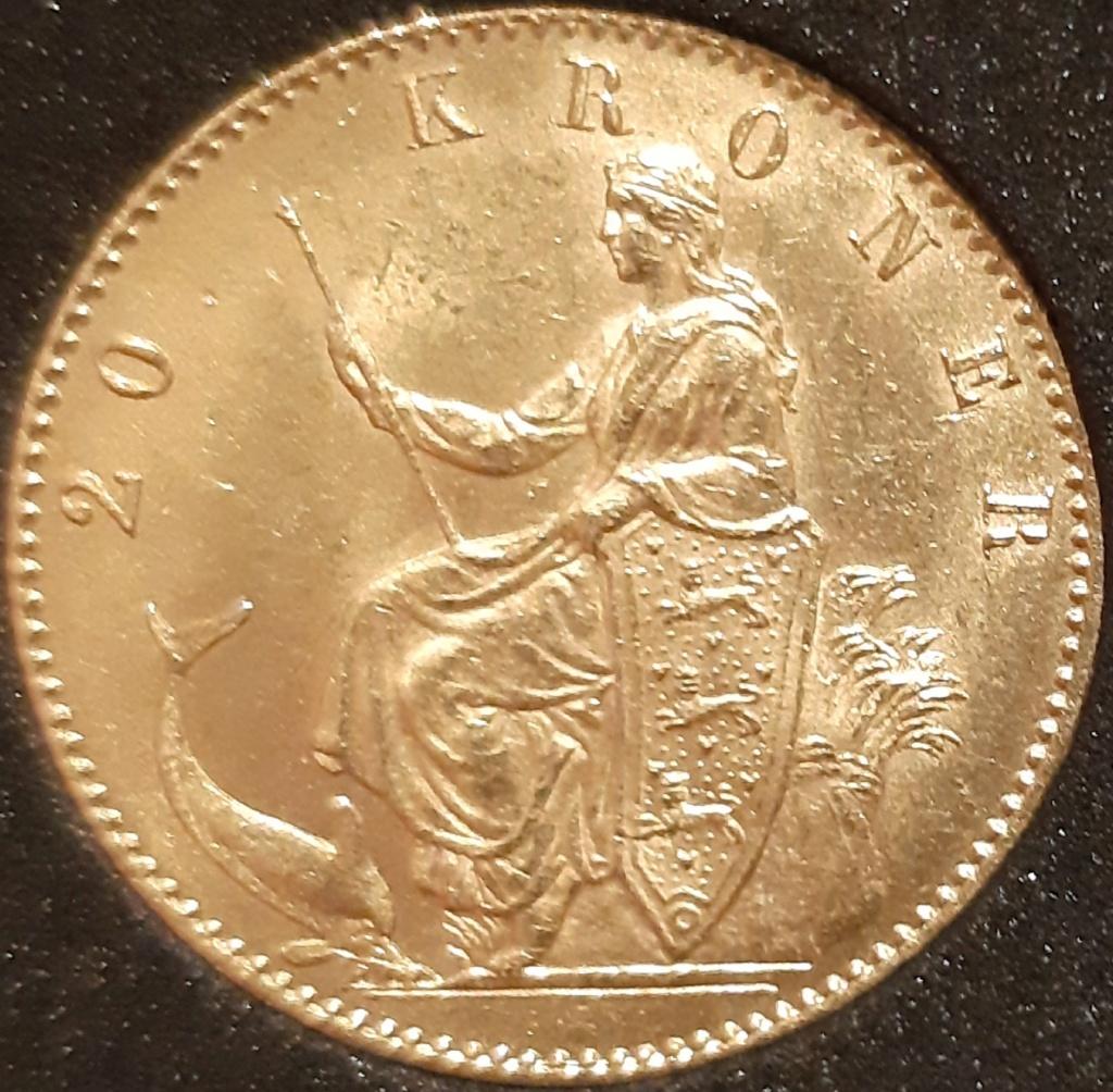20 KRONER 1873. DINAMARCA - CRHISTIAN IX  20210343
