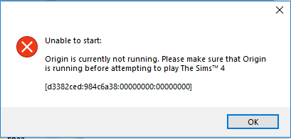 Unable to start Sims 4 Get Famous v1.48.94.1020 Origin11