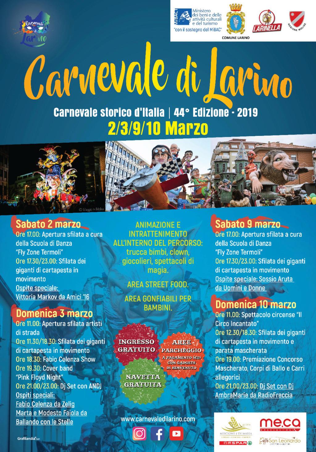 44° Edizione Carnevale di Larino Locand10