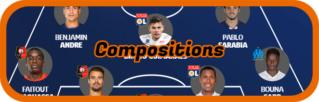 5ème Journée de Ligue 1 avant vendredi  20/03 12h Compos11