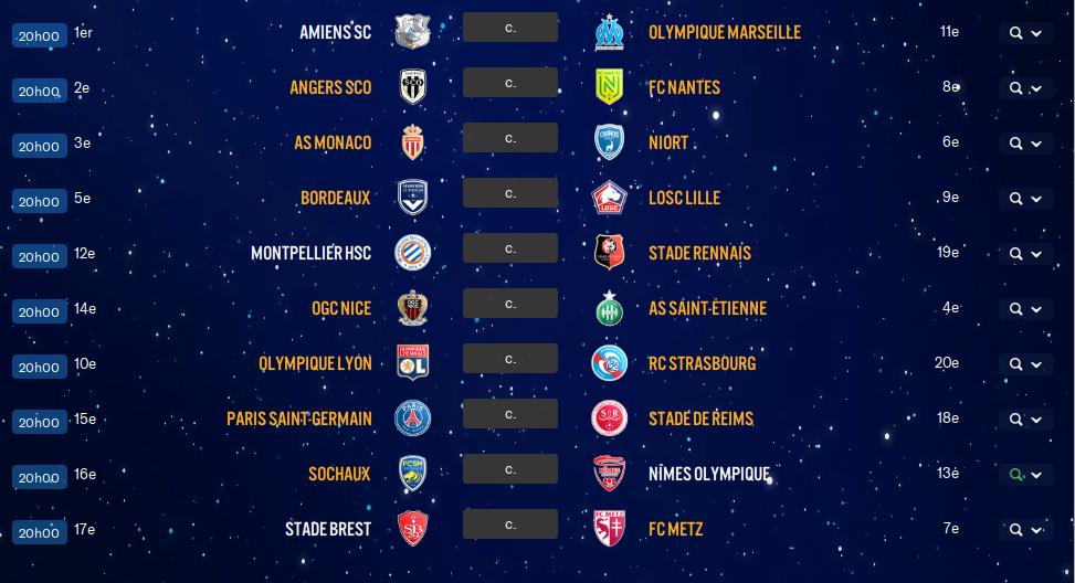 17ème Journée de Ligue 1 avant ?? Q8wk10