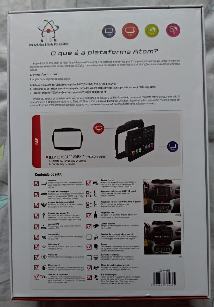 Multimidia Aikon Atom Jeep Renegade Whatsa18