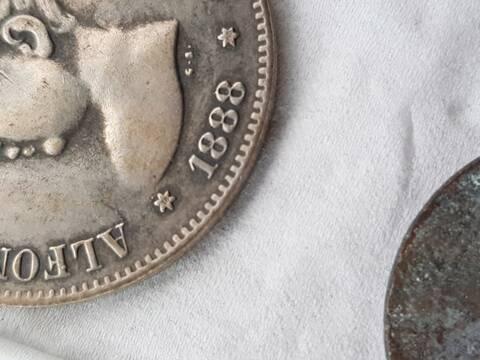5 Pesetas 1888 (*18-88). Alfonso XIII. MPM 20191010
