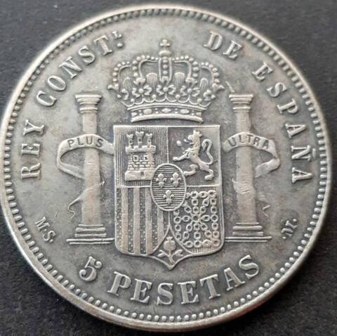 5 pesetas 1892. Alfonso XIII. Opinión Duro-f11