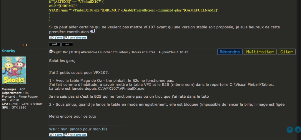 [INFO] VPINBALL - c'est fini ?!? - Page 3 Snorky11