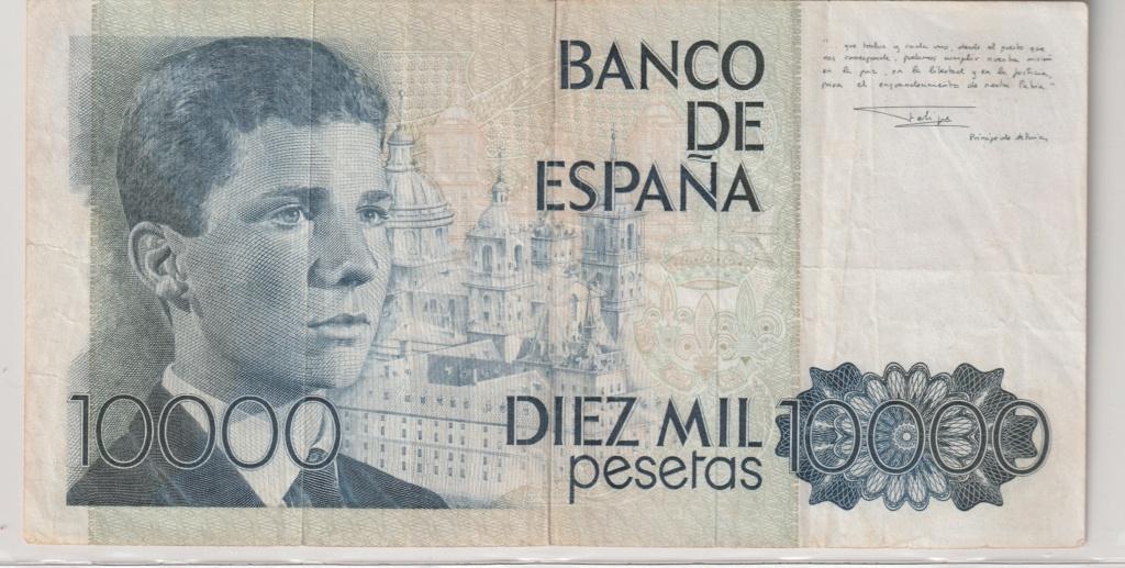 Serie complete de billetes de peseta 1979/80 10000_10
