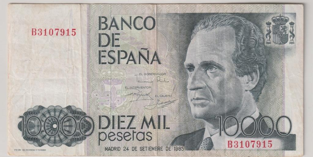 Serie complete de billetes de peseta 1979/80 10000_11