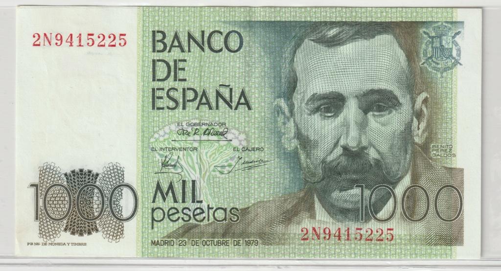 Serie complete de billetes de peseta 1979/80 1000_a10