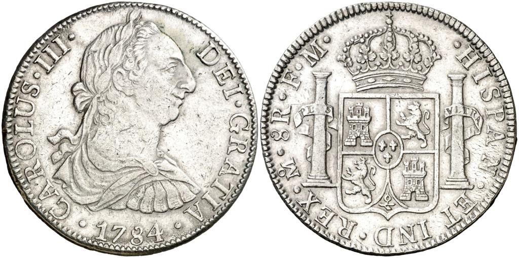 LOS DOS JINETES DE MI APOCALIPSIS PARTE 1/2 – 8 REALES MÉJICO CARLOS III 1784 126710