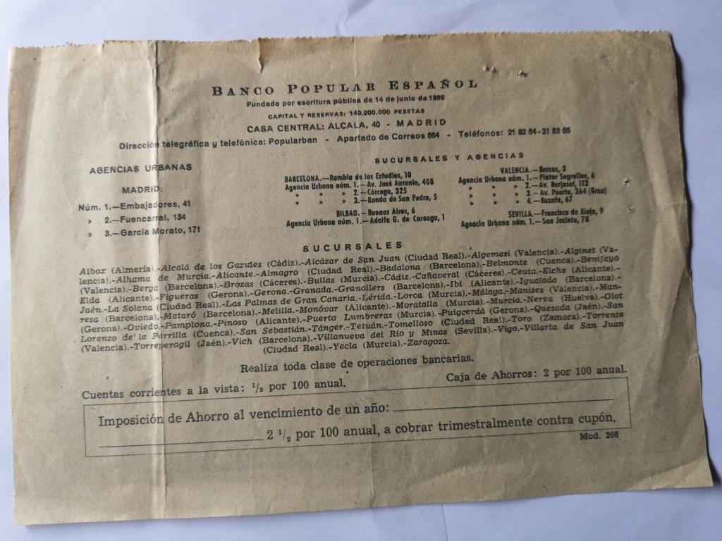 Banco Popular Español 15911010
