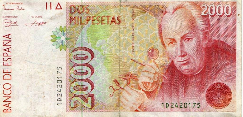 2000 pesetas del año 1992. 199210