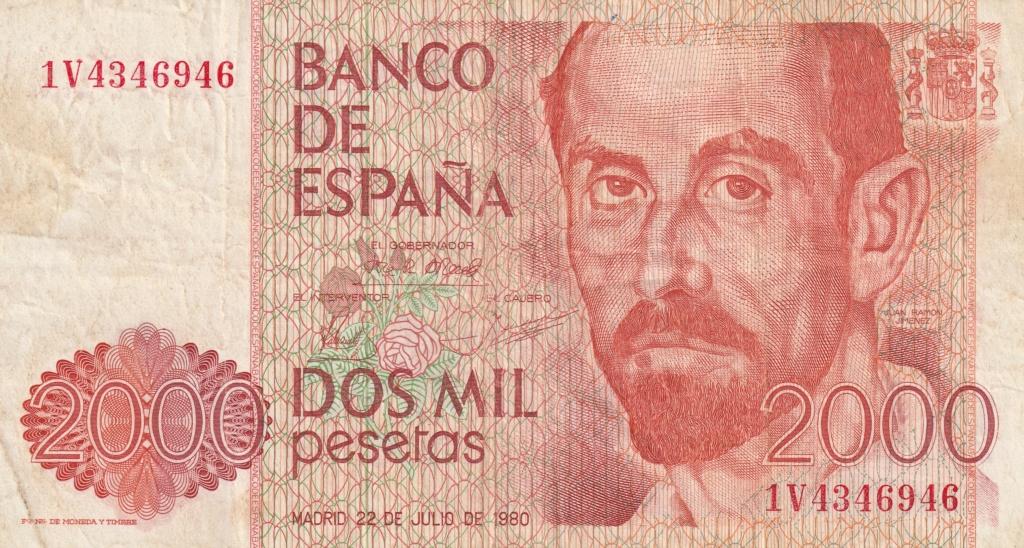Serie complete de billetes de peseta 1979/80 2000_a10