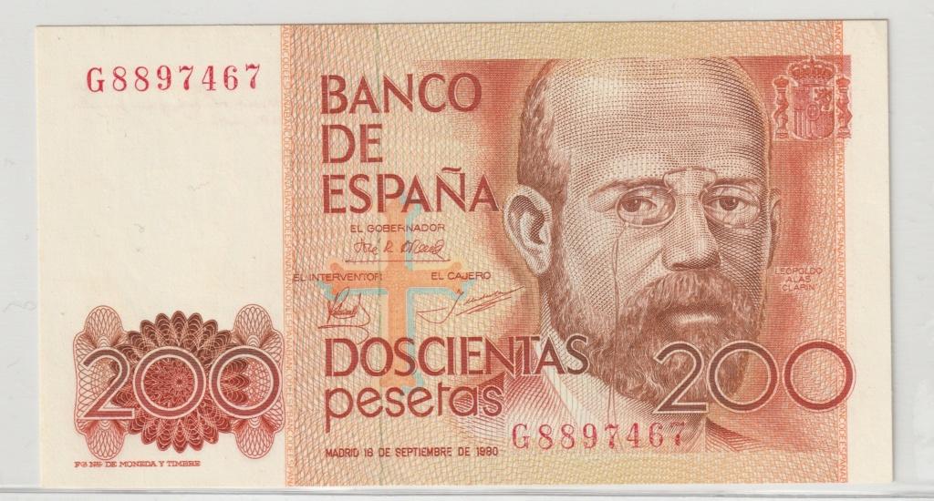 Serie complete de billetes de peseta 1979/80 200_an10