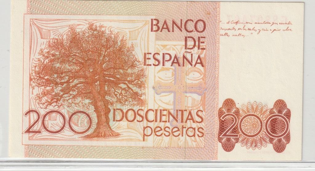 Serie complete de billetes de peseta 1979/80 200_re10