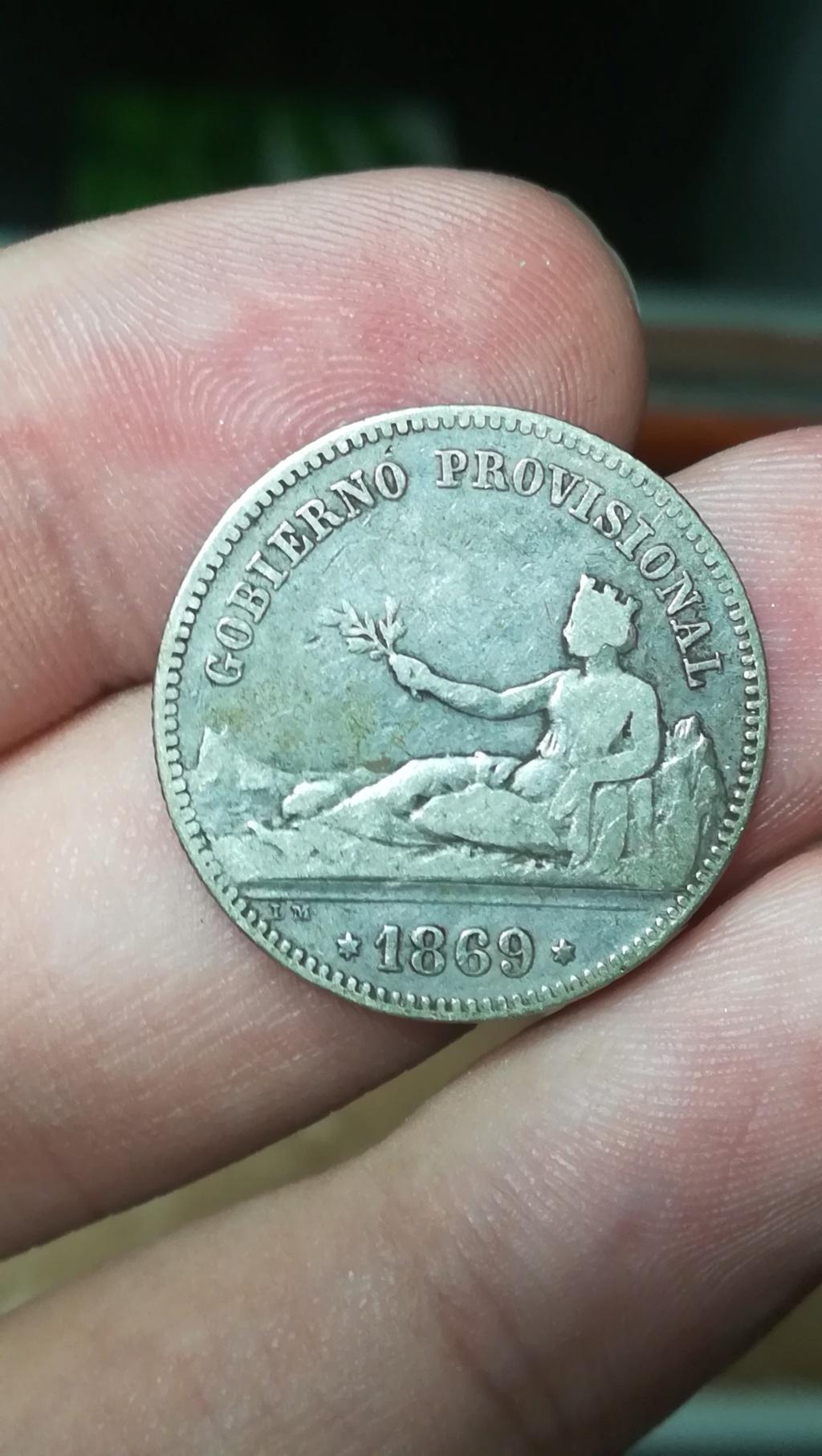 UNA PESETA GOBIERNO PROVISIONAL 1869 (conejo) 210