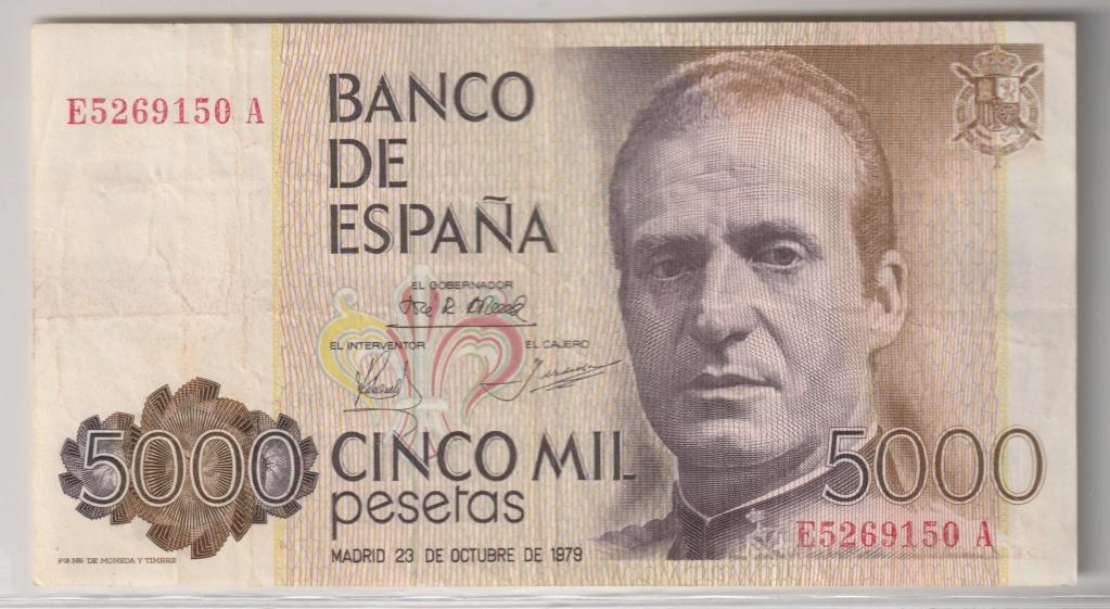 Serie complete de billetes de peseta 1979/80 5000_a10