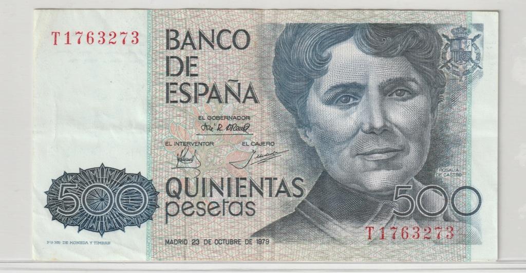 Serie complete de billetes de peseta 1979/80 500_an10