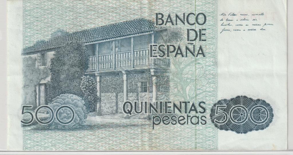 Serie complete de billetes de peseta 1979/80 500_re10
