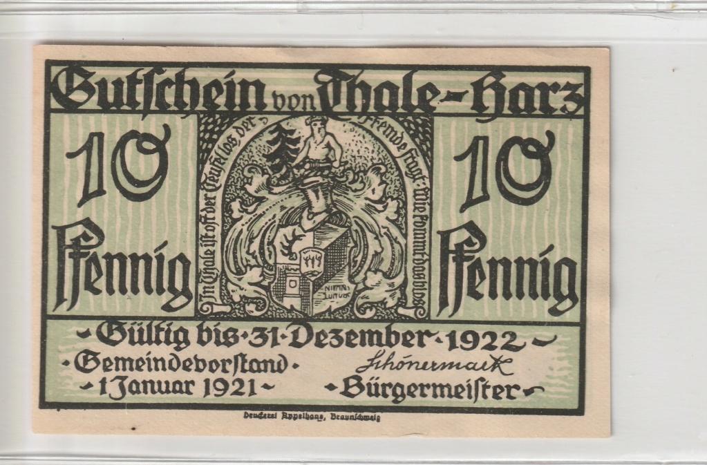 10 Pfennig del municipio de Thale - Harz, 1921 Anv12