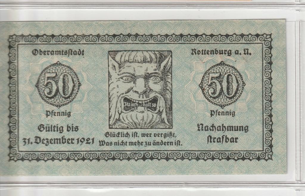 50 Pfennig de Rottenburg am Neckar, 1918 Anv15