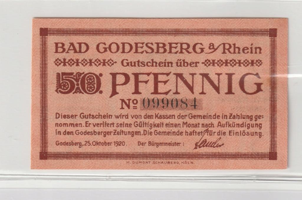 50 Pfennig Godesberg, 1920 Anv16