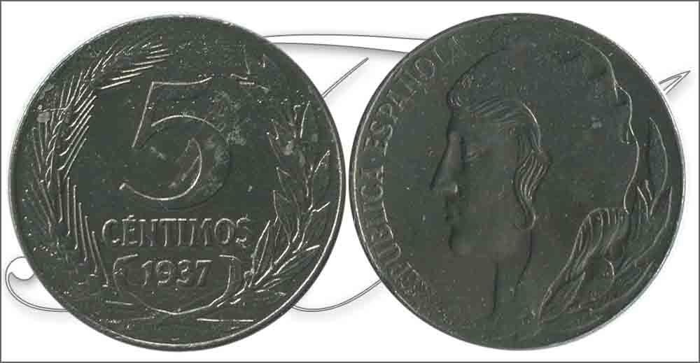 5 céntimos 1937. República Española. Liada con moneda de hierro - Página 2 Espana10