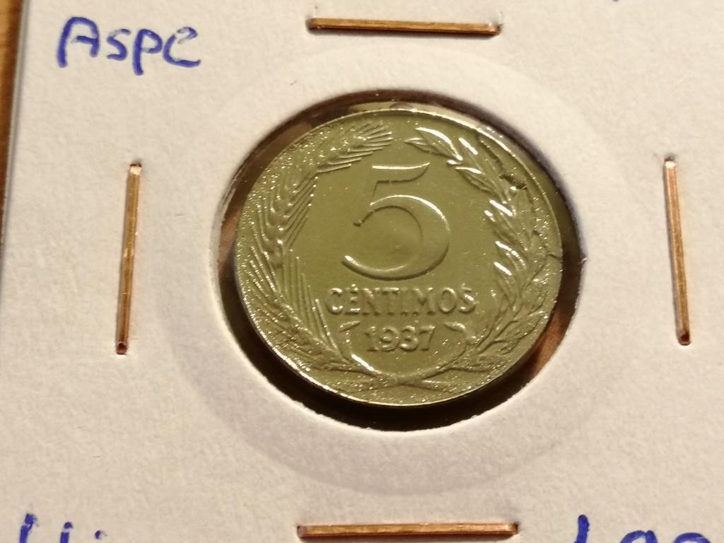 5 céntimos 1937. República Española. Liada con moneda de hierro Img_2052